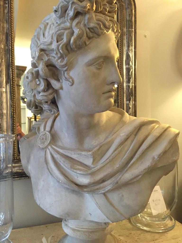 Plaster Head of Apollo In Fair Condition For Sale In Washington, DC