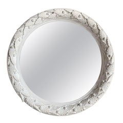 Plaster Laurel Wreath Mirror