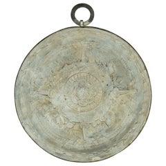 Plaster Medallion Wrapped in Iron