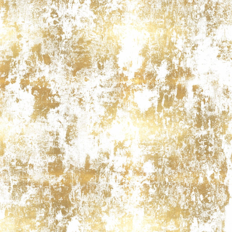 Contemporary Plaster, Midnight Colorway, on Smooth Wallpaper For Sale