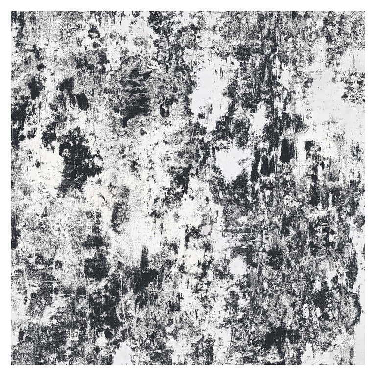 Plaster, Midnight Colorway, on Smooth Wallpaper For Sale
