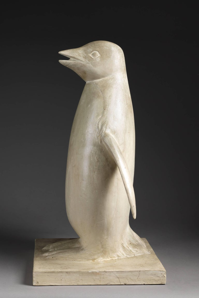 Plaster Model of a Penguin by Belgian Sculptor Adolphe A.H. Daenen, 20th Century In Good Condition For Sale In Leuven , BE