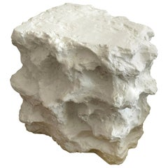 Plaster of Paris Modern Sirmos Style Sculptural Side Table