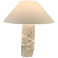 Plaster Pair of Lamps, France, Contemporary