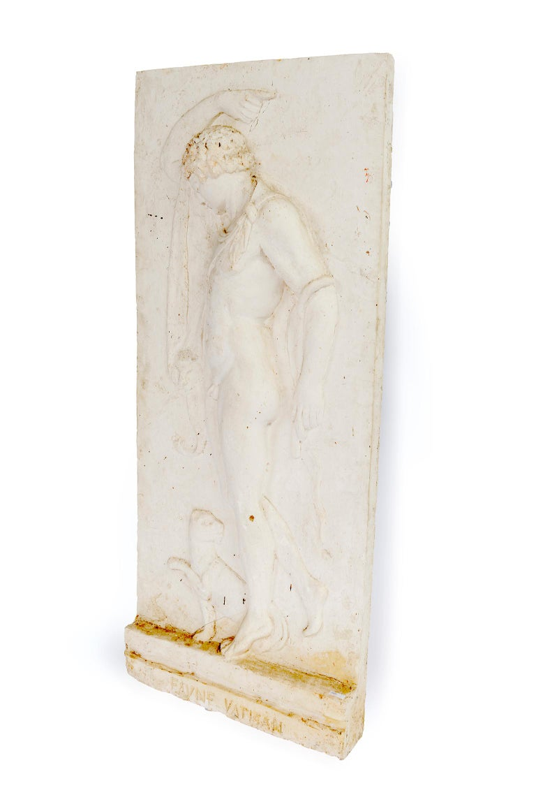 Plaster Relief of a Vatican Faun In Good Condition For Sale In Washington, DC