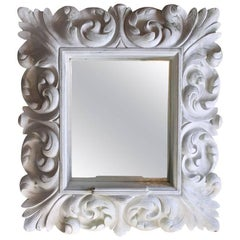 Plaster Wall Mirror in Dorothy Draper Style Hollywood Regency