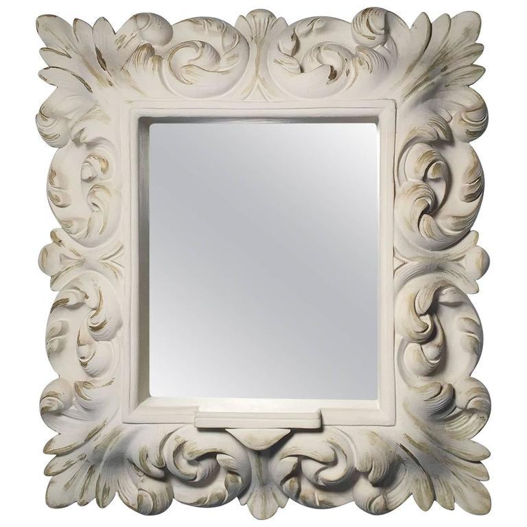 Plaster Wall Mirror Hollywood Regency For Sale 7