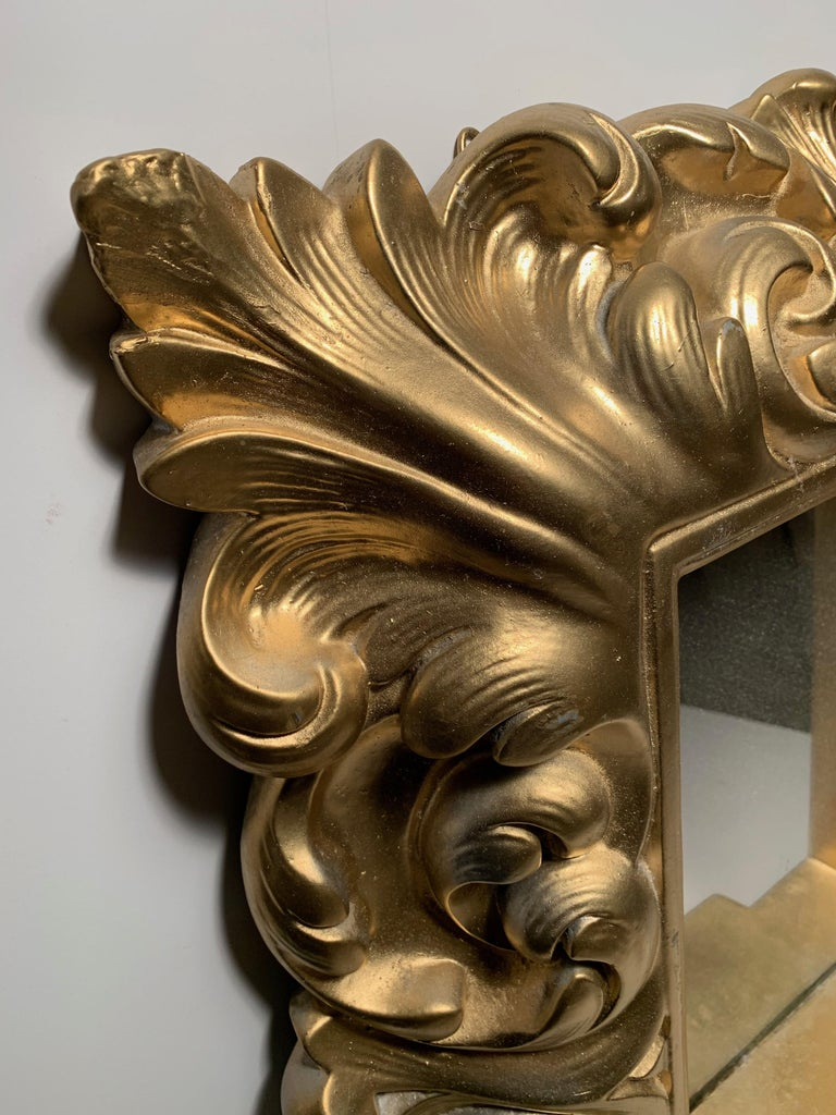 American Plaster Wall Mirror Hollywood Regency For Sale