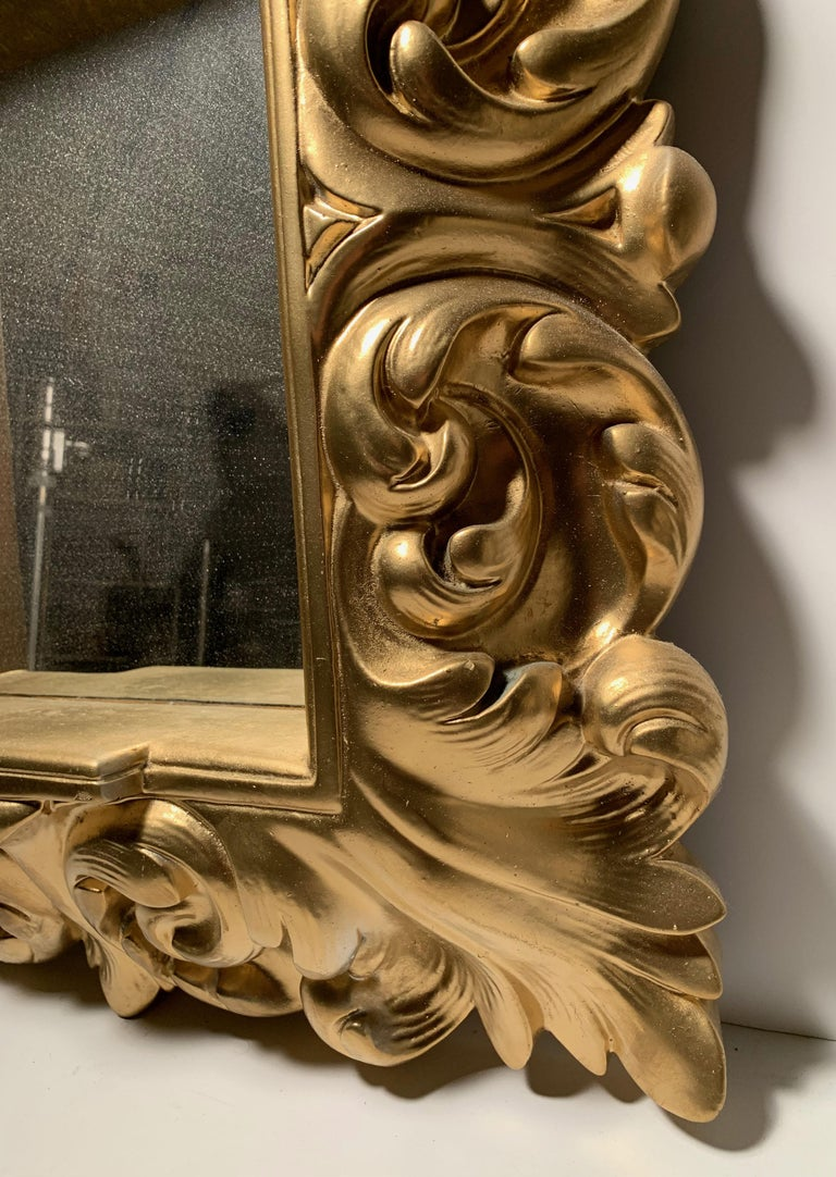 Plaster Wall Mirror Hollywood Regency For Sale 2