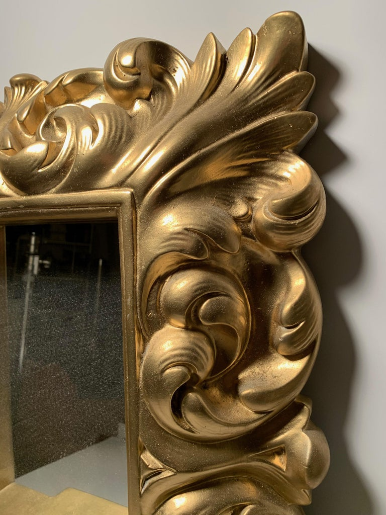 Plaster Wall Mirror Hollywood Regency For Sale 3