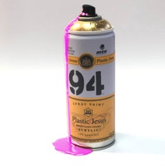 """""""PARTY! - Pink"""" Custom Spray Cans Limited Edition Mixed Media Art"""