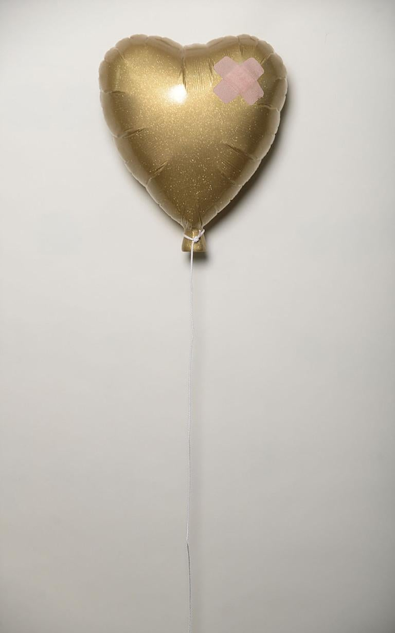 """Golden Heart"" - Mixed Media Art by Plastic Jesus"