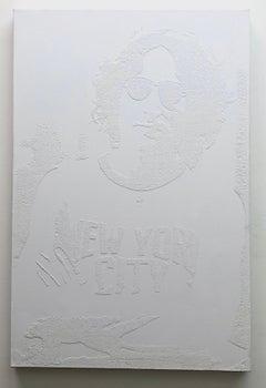 Working Class Hero - Lennon NYC - White Diamonds on Canvas - 1/1