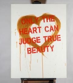 """""""Heart""""  Gold - Contemporary Street Art"""