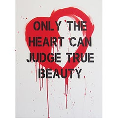 """Heart"" Red – Acrylic Spray Paint on Canvas"