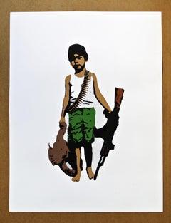 """""""War Child"""" - Contemporary Street Art"""
