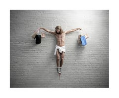 """""""Jesus with Shopping Bags"""" - Limited Edition Fine Art Print"""