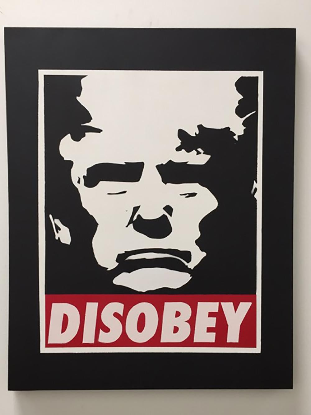 """""""Disobey"""" – Acrylic Screen Print on Paper and Canvas"""
