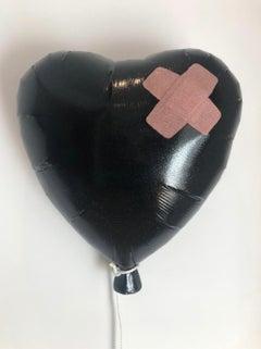 Glitter Black Bandaged Balloon