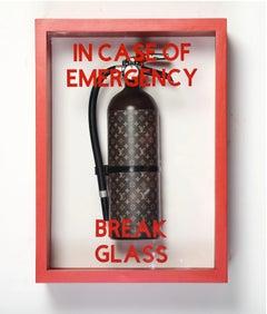 """In Case of Emergency Break Glass"" Louis Vuitton Luxury Edition Extinguisher"