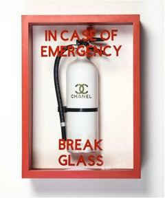 """In Case of Emergency Break Glass"" Chanel Luxury Brand Edition FireExtinguisher"