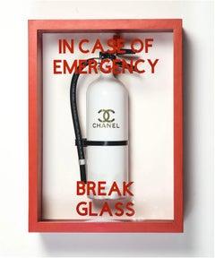 """In Case of Emergency Break Glass"" Chanel Luxury Brand Edition FireExtinguisher"