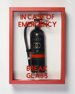 """In Case of Emergency Break Glass"" Gucci Luxury Brand Edition Fire Extinguisher"