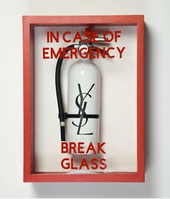 """In Case of Emergency Break Glass"" YSL Luxury Brand Edition Fire Extinguisher"