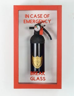 """In Case of Emergency Break Glass"" Dom Perignon Compact Edition FireExtinguisher"