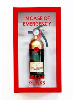 """""""In Case of Emergency Break Glass"""" Moet Chandon Compact Edition FireExtinguisher"""