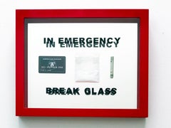 """""""In Case of Emergency Break Glass"""" Open Numbered Edition 12"""" x18"""" x2"""""""