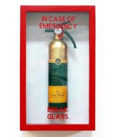 """In Case of Emergency Break Glass""Veuve Clicquot Midi Edition Fire Extinguisher"