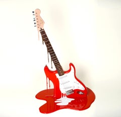 """The Art Of Noise"" - Working Electric Guitar Street Art Sculpture #3of 3 Edition"