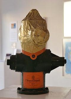 """""""Verve Clicquot""""- Street Art Mixed Media Sculpture"""