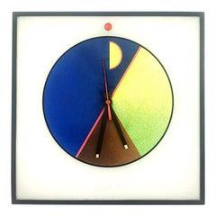 "Plastic Wall Clock ""Morphos Kloks"" by Kurt B. Delbanco for Acerbis, 1980s"