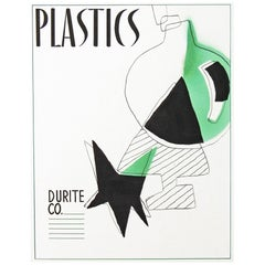 """Plastics,"" Striking, Original Graphic Design for Midcentury Advertisement"