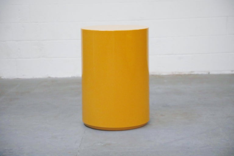 Mid-Century Modern 'Plastiglas' Side Table by Peter Pepper Products, 1970s, Signed For Sale
