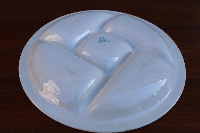 Mid-20th Century Plate Ceramic Galvani Pordenone Angelo Simonetto Futuristic Design 1930s Fish For Sale