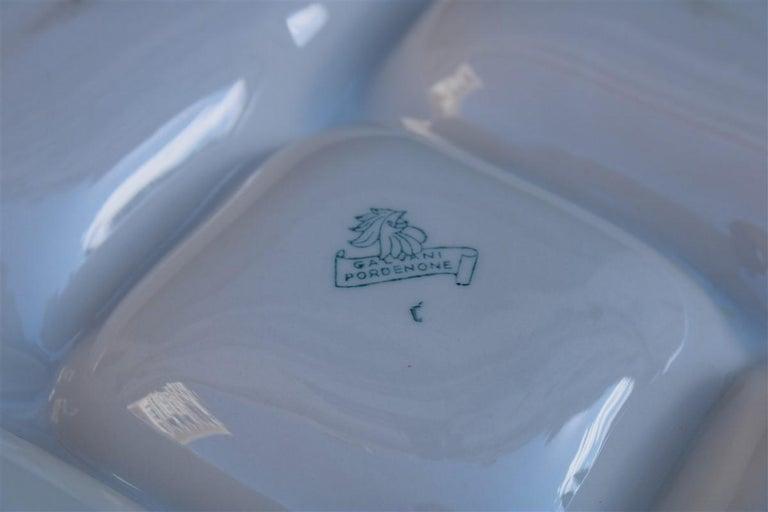 Plate Ceramic Galvani Pordenone Angelo Simonetto Futuristic Design 1930s Fish For Sale 1