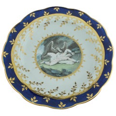 Plate from the King of Hanover Service, Prometheus, Worcester, circa 1795