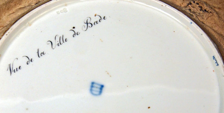 Early 19th Century Plate Imperial Viennese Porcelain View of Baden Sorgenthal Period Dated 1802 For Sale