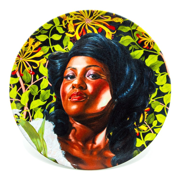 Plate Set with Portraits by Kehinde Wiley In Excellent Condition For Sale In Jersey City, NJ