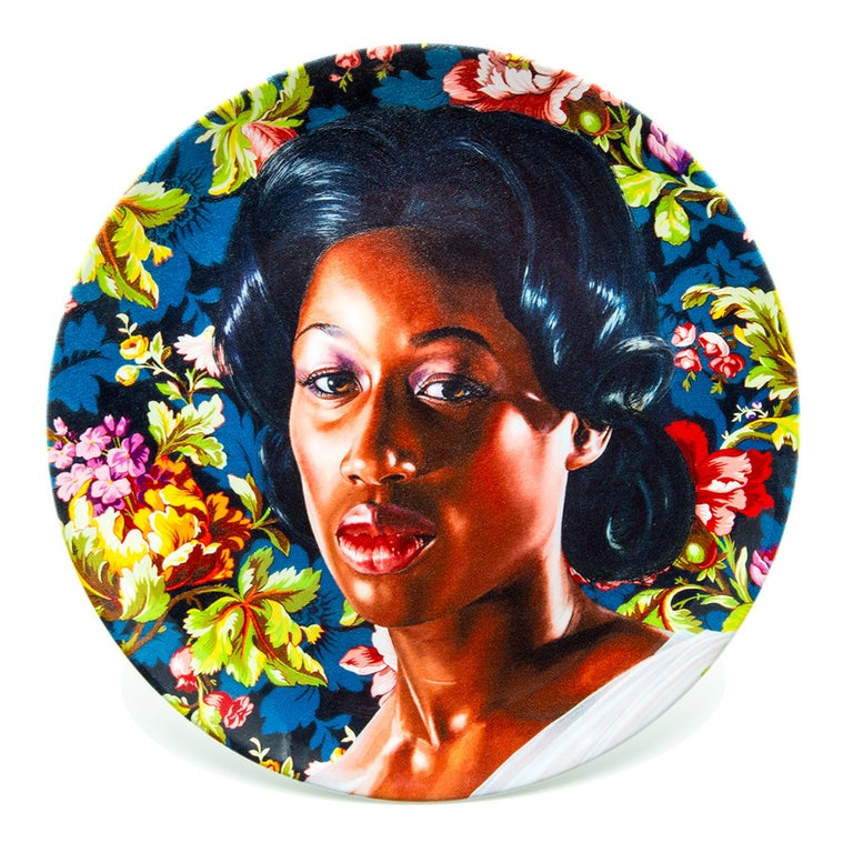 Contemporary Plate Set with Portraits by Kehinde Wiley For Sale