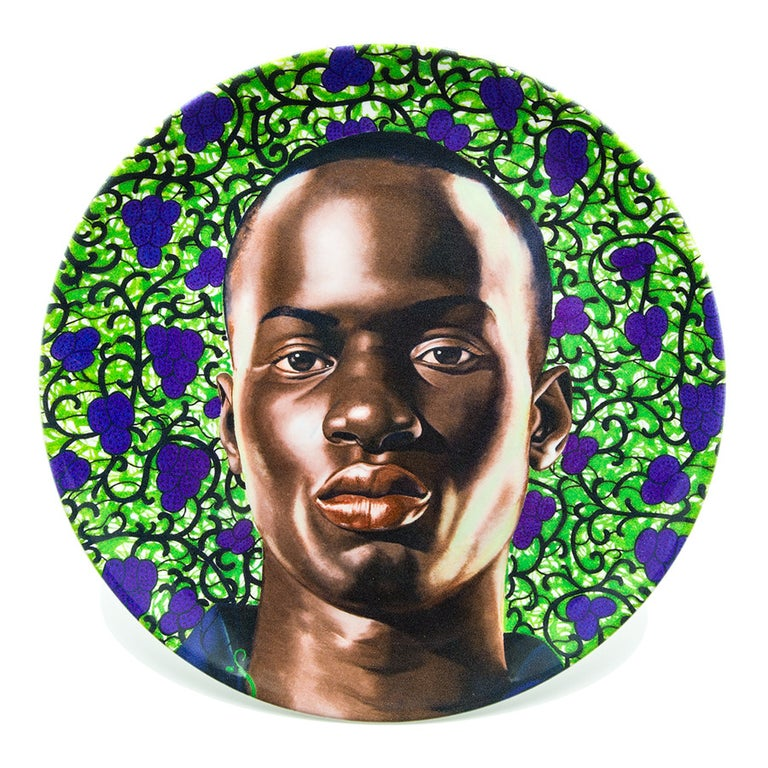 Porcelain Plate Set with Portraits by Kehinde Wiley For Sale