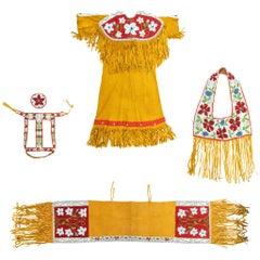 Plateau Beaded Dress with Matching Horse Regalia