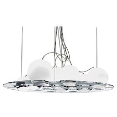 Plateau Suspension Lamp by Antonia Astori & Nicola De Ponti for Oluce
