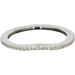 Platinum 0.13 Carat Round Diamond Wedding Band