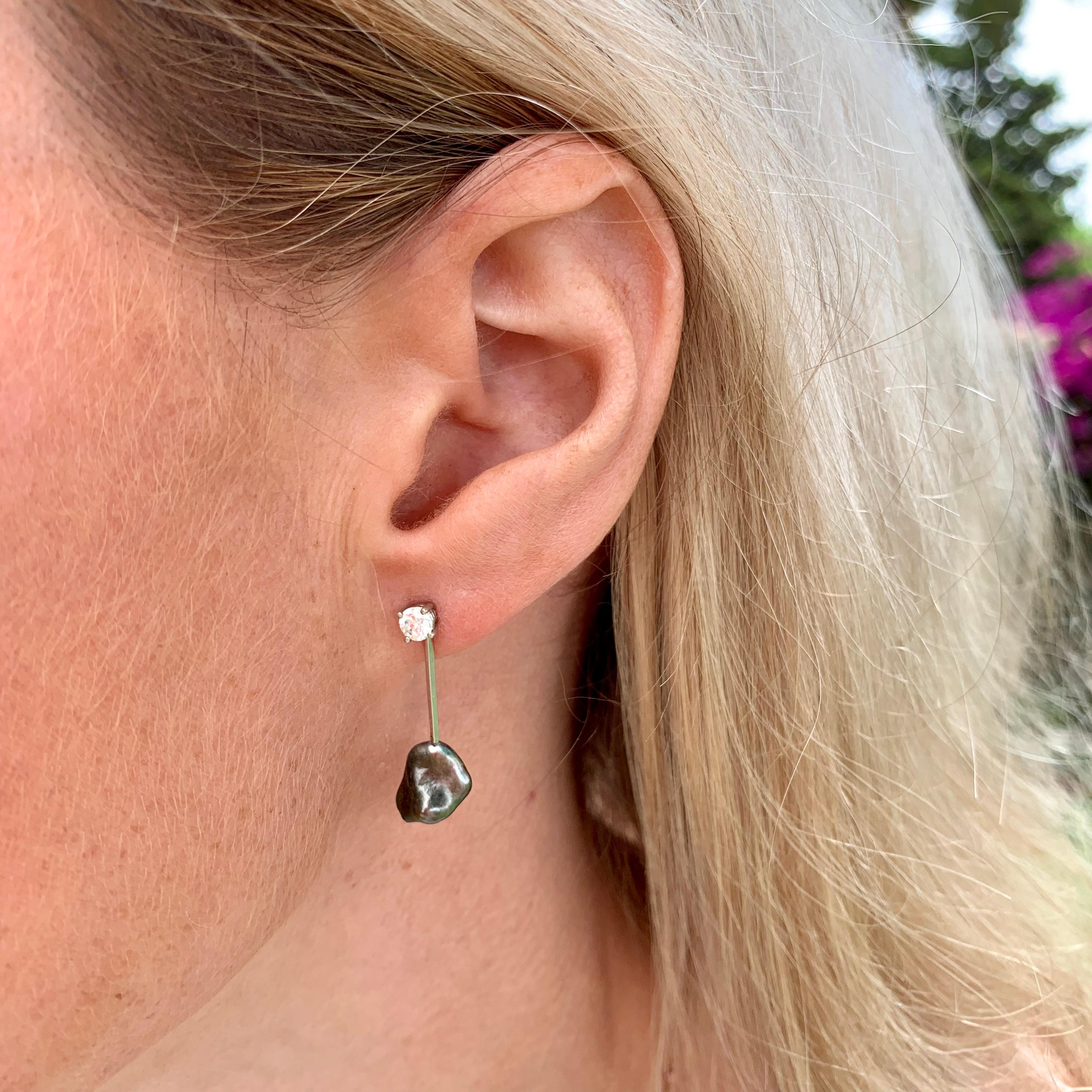 0.50 Carat Diamond Drop Earrings in