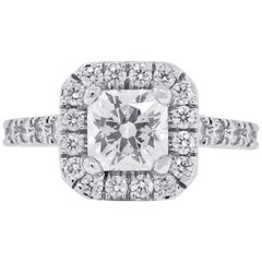 Platinum 0.52 Carat Hearts on Fire Diamond Engagement Ring