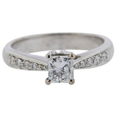 Platinum 0.83 Carat Diamond Engagement Ring